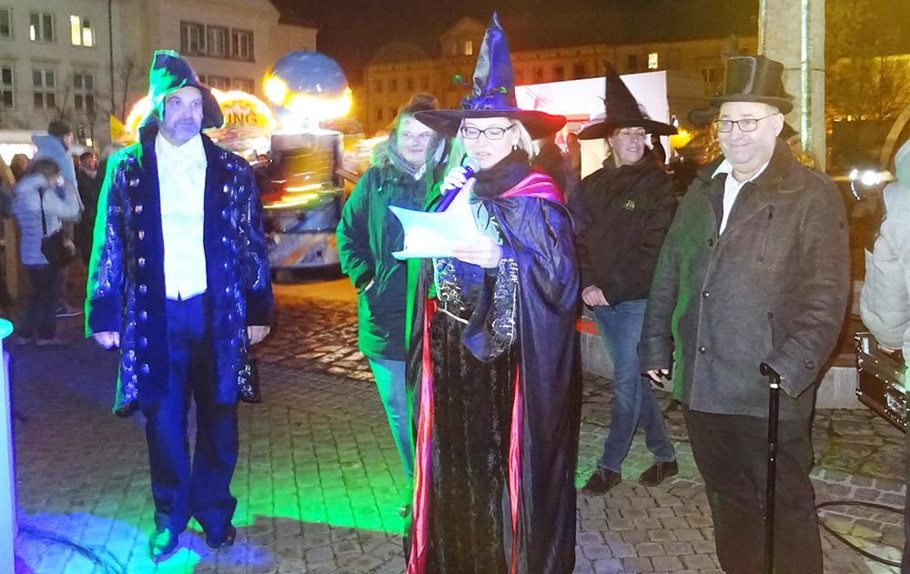 Flotter Potter beim Halloween-Shopping in Pasewalk