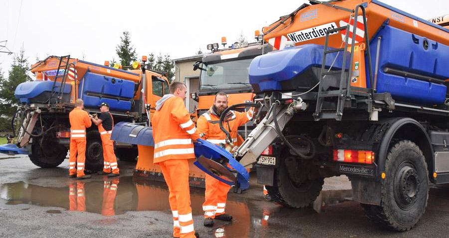 Der Schnee kann kommen: Winterdienst im Landkreis jederzeit einsatzbereit