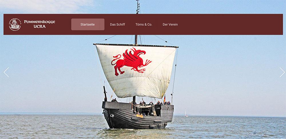 Die Pommernkogge geht online