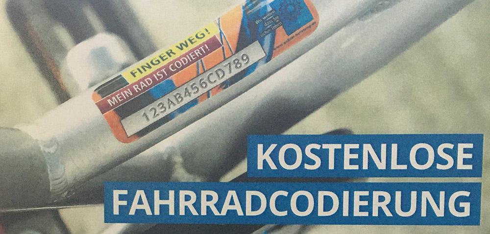 Kostenlose Fahrradcodierung am 15. Juli in Ueckermünde