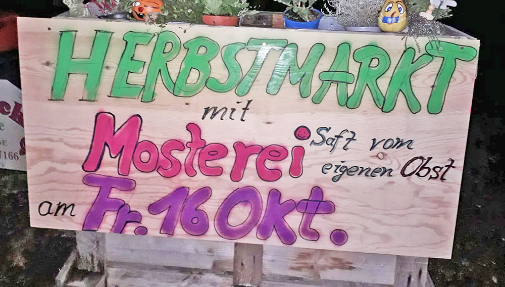 Herbstlicher Markt beim Gärtnermeister in Luckow