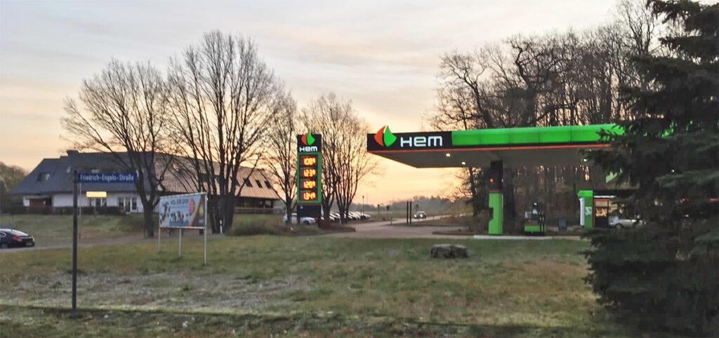 HEM-Tankstelle in Eggesin überfallen