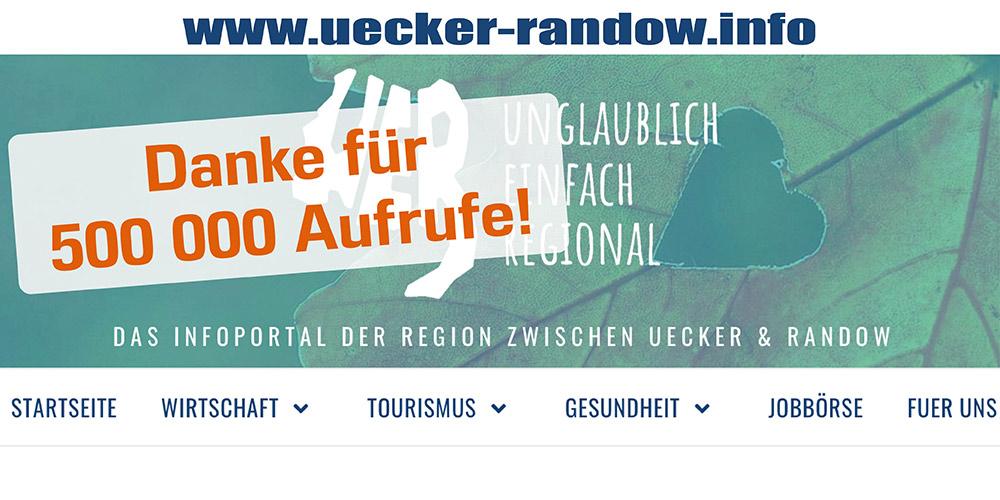 Uecker-Randow.Info erreicht halbe Million Klicks