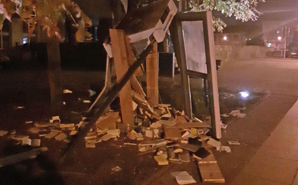 Bücherzelle in Pasewalk vollständig zerstört
