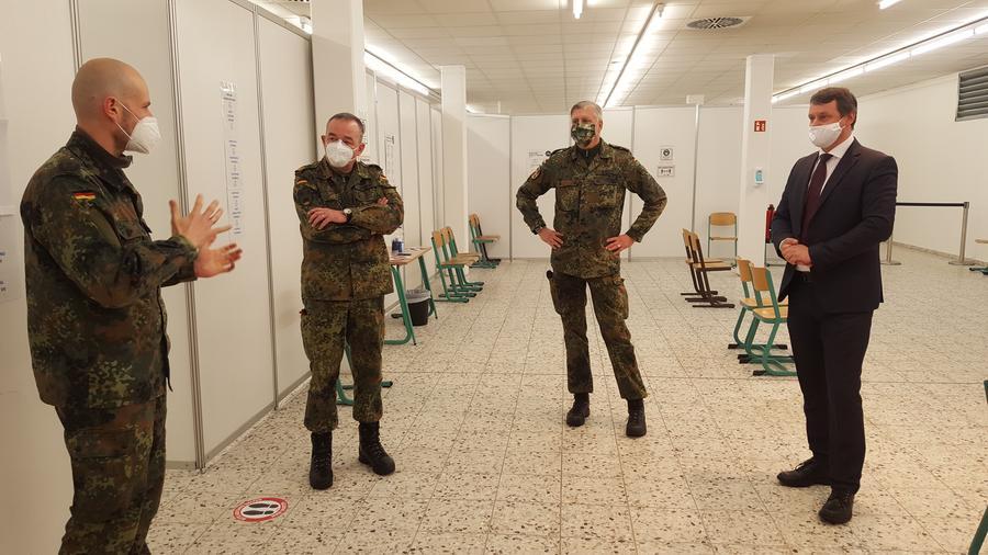 Bundeswehr betreibt Impfzentrum in Pasewalk