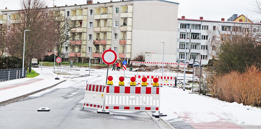 Ueckermünde: Belliner Straße wieder dicht