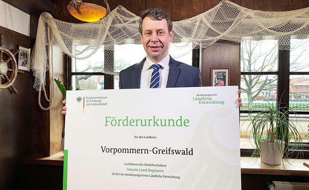 Smarte.Land.Region: Landkreis Vorpommern-Greifswald mit 800 000 Euro gefördert