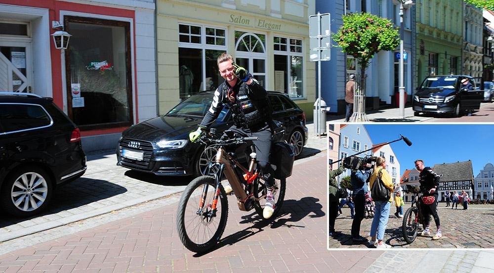 Von Ueckermünde nach Halle: Ben Zucker tritt für guten Zweck in die Pedale