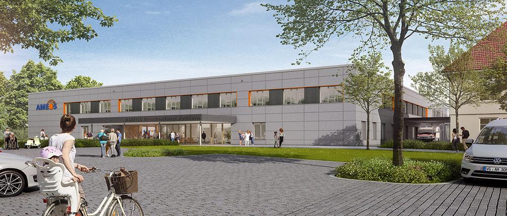 Grundstein für Neubau am AMEOS Klinikum Anklam gelegt