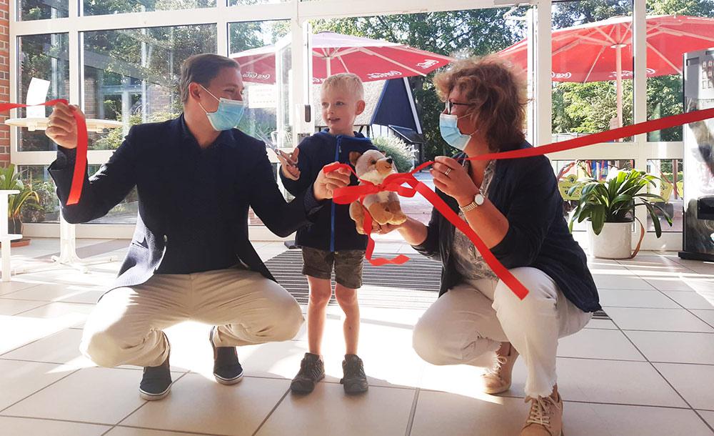 Landeszootag: Magnus und seine Familie sind die ersten Besucher