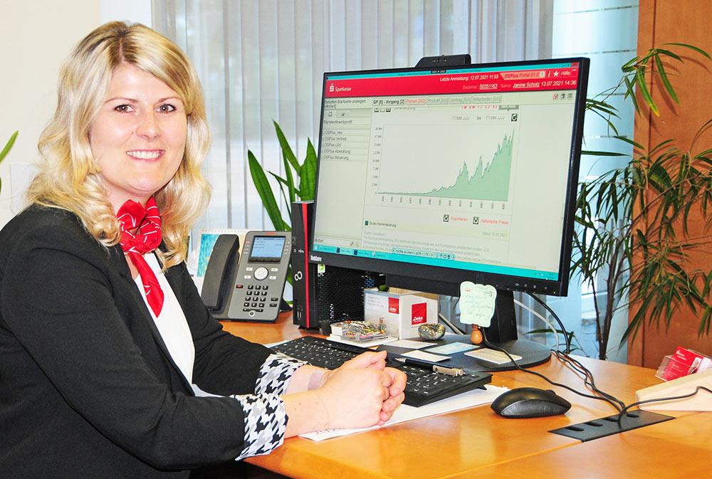 Wertpapiere und Edelmetalle: Die Sparkasse Uecker-Randow informiert online