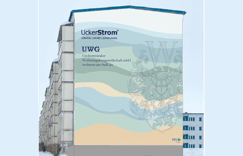 Neues Wandbild entsteht in Ueckermünde