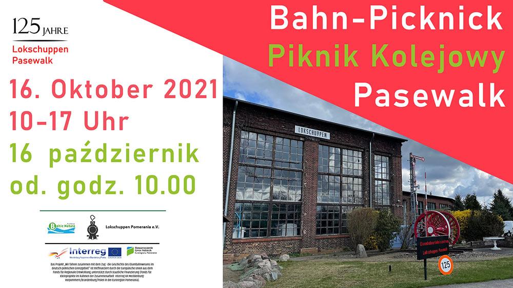 Deutsch-polnisches Bahn-Picknick in Pasewalk