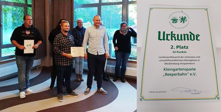 Ueckermünder Gärtner von der Reeperbahn belegen 2. Platz im Landeswettbewerb